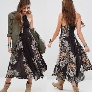 FREE PEOPLE Seasons in the Sun Floral Midi Dress